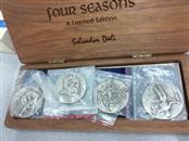SALVADOR DALÍ (1904-1989) Silver Coin FOUR SEASONS
